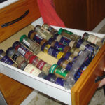 Practical spice storage in modified kitchen
