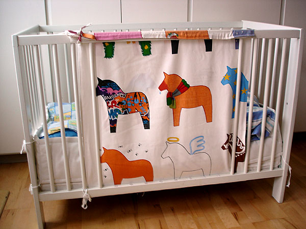 Modified crib on wheels