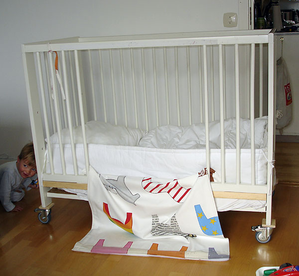 Modified crib, open