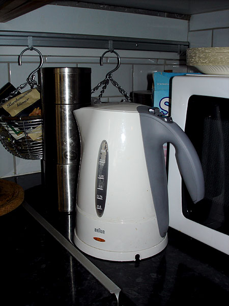 Water kettle with easy-grip handle