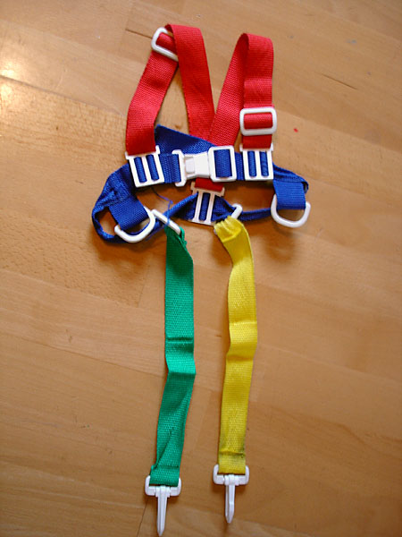 Modified baby harness