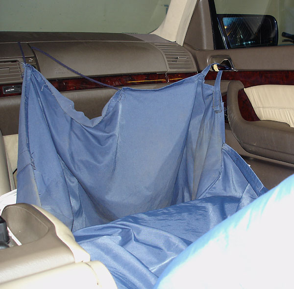 Custom-tailored protective cover for car