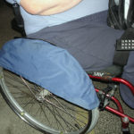 Hjulöverdrag som skydd för byxorna