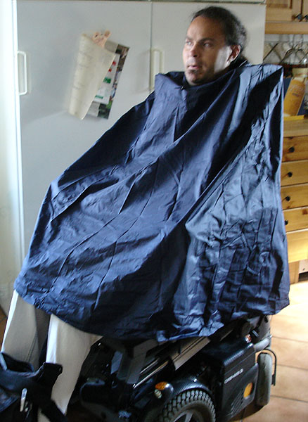 Rain poncho for bicyclists