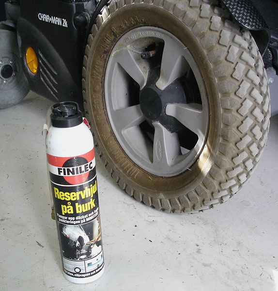 Tire puncture repair kit or solid tires to prevent puncture