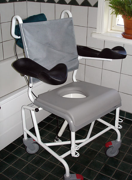 Shower chair with customized armrest