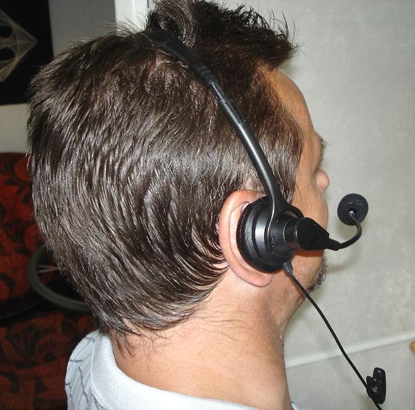 Telefon med headset