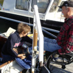 Transfer from wheelchair to sailboat