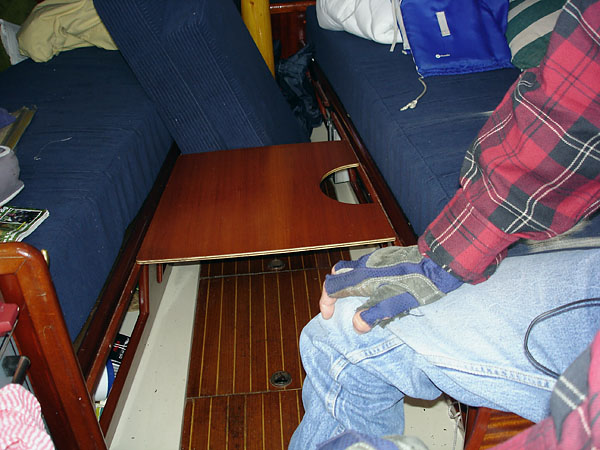 Berth on sailboat