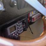 Radio on adapted motorboat