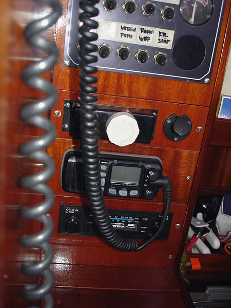 Radio on sailboat