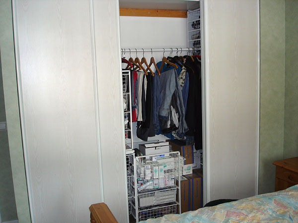 Closet with sliding doors