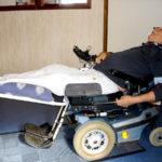Benstöd för el-rullstol
