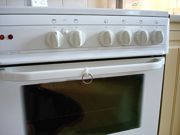 Adapted oven handle