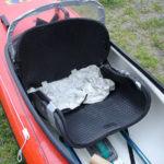 Seat cushion in boat