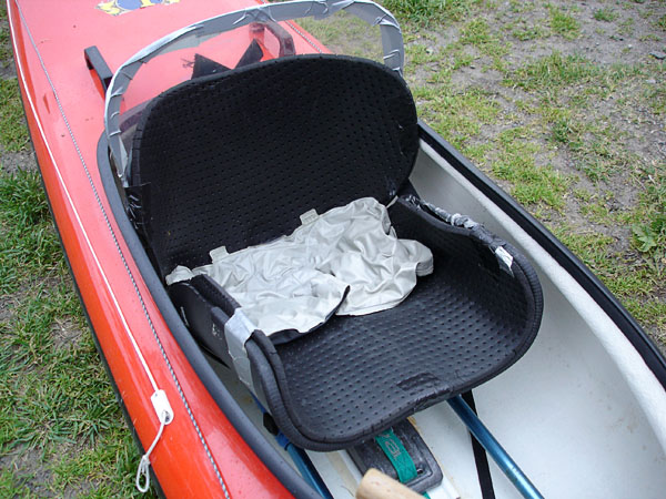 Seat cushion in boat
