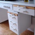 Storage unit in accessible kitchen