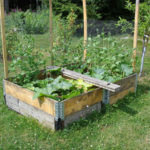 Raised beds from pallet collars