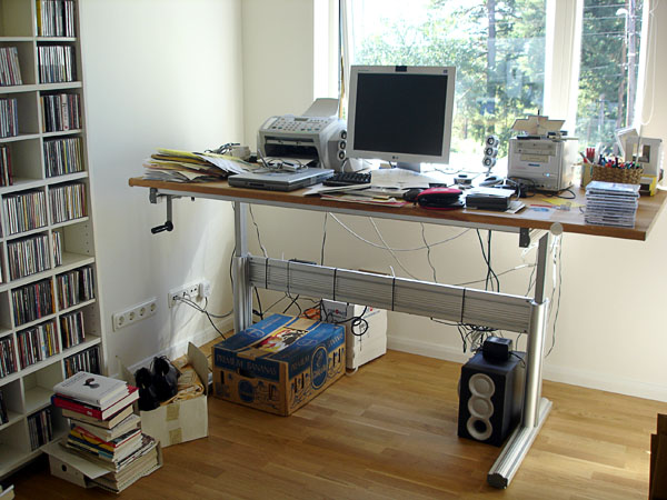 Workroom with computer workstation