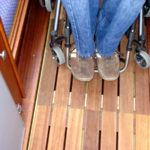 Adapted sole inside cabin