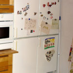 Refrigerator and freezer in accessible kitchen