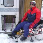 Transfer from wheelchair to Sitski