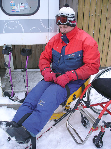 Clothing for riding on sitski