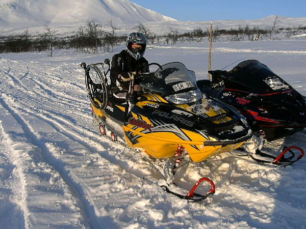 Adapted snowmobile