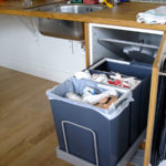 Waste-sorting cabinet