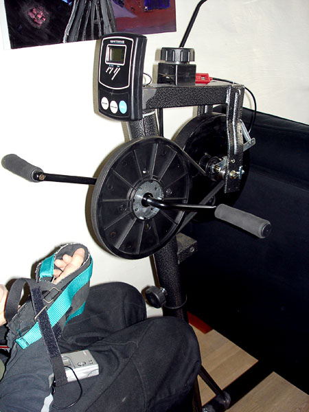 Modified exercise bike