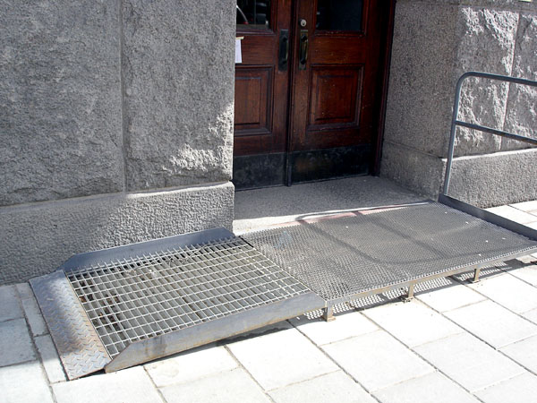 Ramp in front of entrance