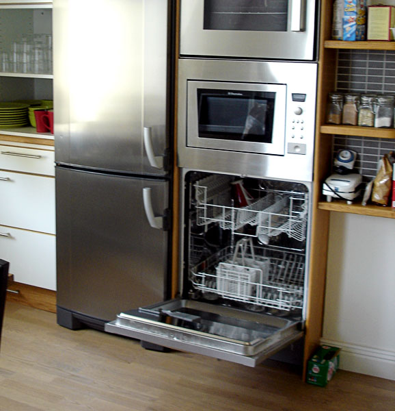 Dishwasher in accessible kitchen