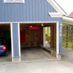 Garage adapted to minivan