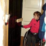 Wheelchair accessible sauna