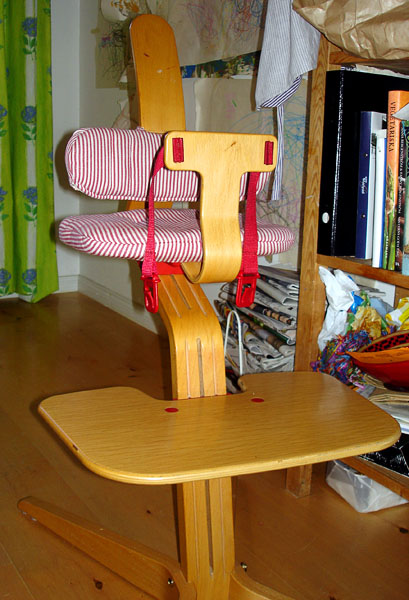 Highchair from the front
