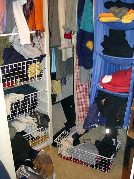 Accessible clothes closet