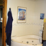 Bathroom in wheelchair accessible single-story home