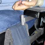 Attachment on wheelchair