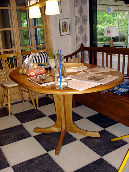 Round pedestal kitchen table