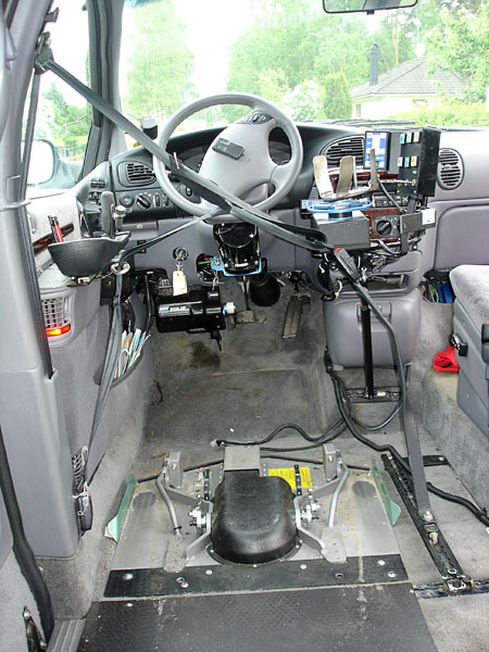 Driver's seat with modifications and seatbelt without user