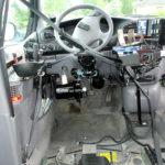 Seatbelt in adapted minivan