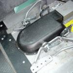 Wheelchair attachment in adapted minivan
