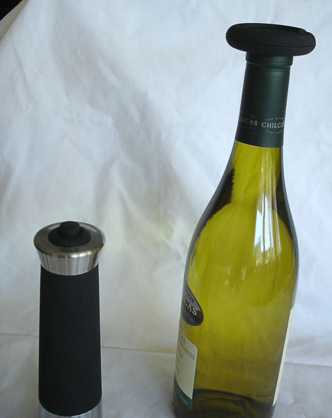 Foil cutter on wine bottle