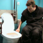 Transfer from wheelchair to toilet