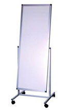 Large mirror on casters