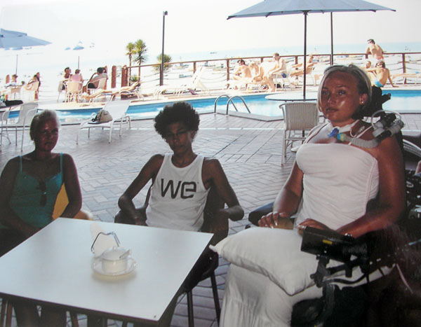 Traveling with electric wheelchair and ventilator