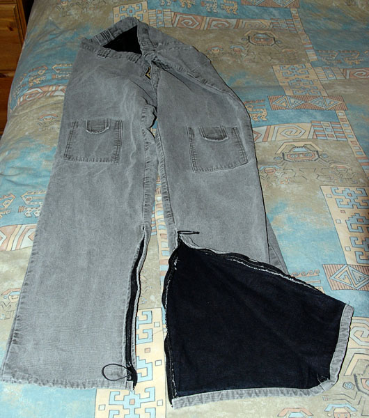 Modified trousers