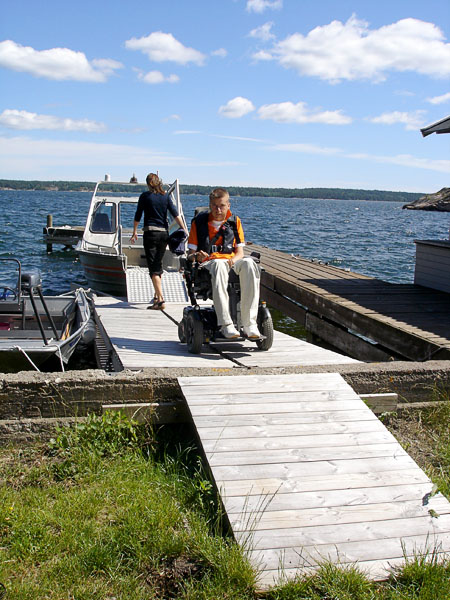 Accessible boat dock at vacation home