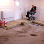 Garage in adapted house