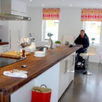 Spacious kitchen in accessible house